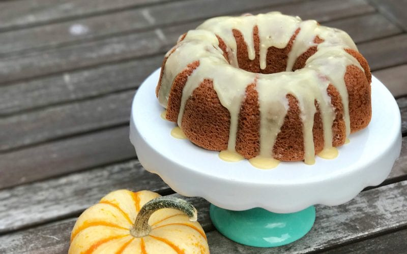 Paleo Pumpkin Cake with Maple Glaze Icing